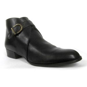 Etienne Aigner Italian Leather Boots Black Ankle